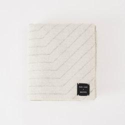 Pinstripe Throw White   Plaids   Made By Hand