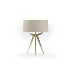 No. 35 Table Lamp Matt Collection - Light taupe - Brass | Table lights | BALADA & CO.