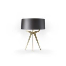 No. 35 Table Lamp Shiny-Matt Collection - Night Grey - Brass | Table lights | BALADA & CO.