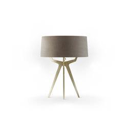 No. 35 Table Lamp Velvet Collection - Smoke - Brass | Table lights | BALADA & CO.