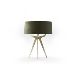 No. 35 Table Lamp Velvet Collection - Mousse - Brass | Table lights | BALADA & CO.