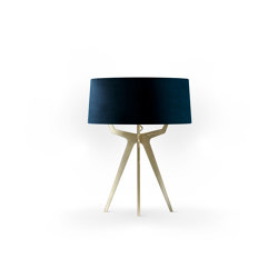 No. 35 Table Lamp Velvet Collection - Notte - Brass | Table lights | BALADA & CO.