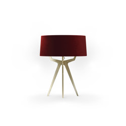 No. 35 Table Lamp Velvet Collection - Cayenne - Brass | Table lights | BALADA & CO.