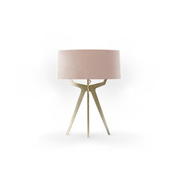 No. 35 Table Lamp Velvet Collection - Rose The ́- Brass | Table lights | BALADA & CO.