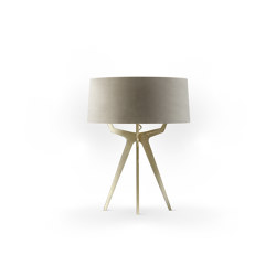 No. 35 Table Lamp Velvet Collection - Beige - Brass | Table lights | BALADA & CO.
