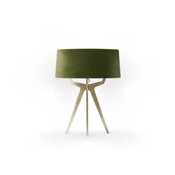 No. 35 Table Lamp Velvet Collection - Olive - Brass | Table lights | BALADA & CO.
