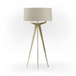 No. 35 Floor Lamp Matt Collection - Light Taupe - Brass | Lámparas de pie | BALADA & CO.
