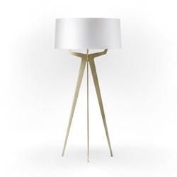 No. 35 Floor Lamp Shiny-Matt Collection - Shiny White - Brass | Free-standing lights | BALADA & CO.