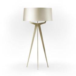 No. 35 Floor Lamp Shiny-Matt Collection - Silky Cream - Brass | Free-standing lights | BALADA & CO.