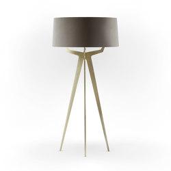 No. 35 Floor Lamp Velvet Collection - Smoke - Brass   Free-standing lights   BALADA & CO.