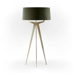 No. 35 Floor Lamp Velvet Collection - Mousse - Brass   Free-standing lights   BALADA & CO.