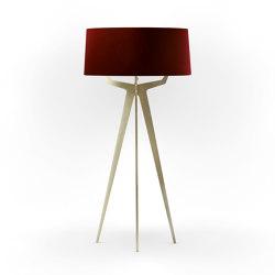 No. 35 Floor Lamp Velvet Collection - Cayenne - Brass   Free-standing lights   BALADA & CO.