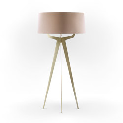 No. 35 Floor Lamp Velvet Collection - Rose The - Brass   Free-standing lights   BALADA & CO.