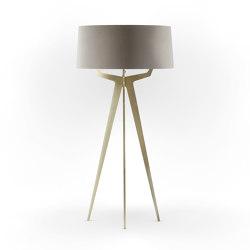 No. 35 Floor Lamp Velvet Collection - Beige - Brass | Free-standing lights | BALADA & CO.