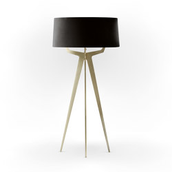 No. 35 Floor Lamp Velvet Collection - Nero - Brass   Free-standing lights   BALADA & CO.