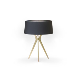 No. 43 Table Lamp Matt Collection - Deep Black - Brass | Table lights | BALADA & CO.