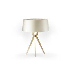 No. 43 Table Lamp Shiny-Matt Collection - Silky Cream - Brass   Table lights   BALADA & CO.