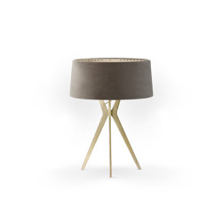 No. 43 Table Lamp Velvet Collection - Smoke - Brass | Table lights | BALADA & CO.
