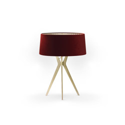 No. 43 Table Lamp Velvet Collection - Cayenne - Brass | Table lights | BALADA & CO.