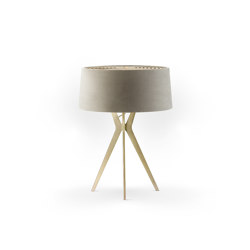 No. 43 Table Lamp Velvet Collection - Beige - Brass | Table lights | BALADA & CO.