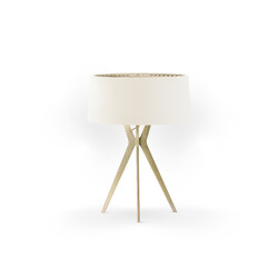 No. 43 Table Lamp Velvet Collection - Magnolia - Brass | Table lights | BALADA & CO.