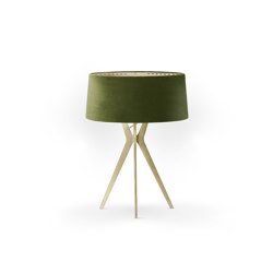 No. 43 Table Lamp Velvet Collection - Olive - Brass | Table lights | BALADA & CO.