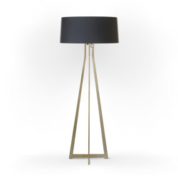 No. 47 Floor Lamp Matt Collection - Deep Black - Brass | Free-standing lights | BALADA & CO.