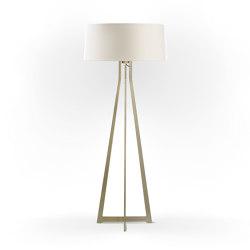 No. 47 Floor Lamp Matt Collection - Off White - Brass   Free-standing lights   BALADA & CO.