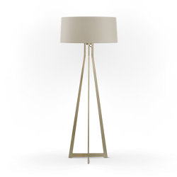 No. 47 Floor Lamp Matt Collection - Light Taupe - Brass   Free-standing lights   BALADA & CO.