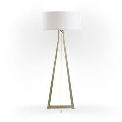 No. 47 Floor Lamp Matt Collection - Soft White - Brass   Free-standing lights   BALADA & CO.