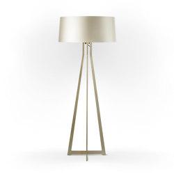 No. 47 Floor Lamp Shiny Matt- Silky Cream - Brass | Free-standing lights | BALADA & CO.