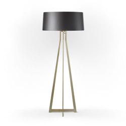 No. 47 Floor Lamp Shiny Matt- Night Grey - Brass | Free-standing lights | BALADA & CO.