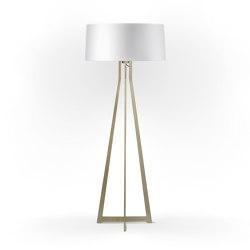 No. 47 Floor Lamp Shiny Matt- Shiny White - Brass | Free-standing lights | BALADA & CO.