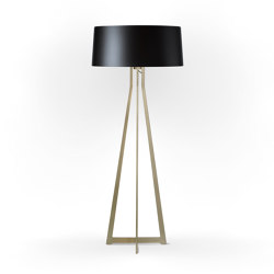 No. 47 Floor Lamp Shiny Matt- Shiny-Black - Brass | Free-standing lights | BALADA & CO.