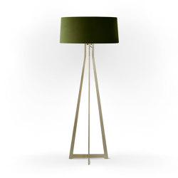 No. 47 Floor Lamp Velvet Collection - Olive - Brass | Free-standing lights | BALADA & CO.