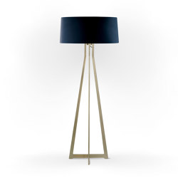 No. 47 Floor Lamp Velvet Collection - Notte - Brass | Free-standing lights | BALADA & CO.