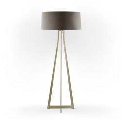 No. 47 Floor Lamp Velvet Collection - Smoke - Brass | Free-standing lights | BALADA & CO.