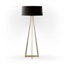 No. 47 Floor Lamp Velvet Collection - Nero - Brass | Free-standing lights | BALADA & CO.