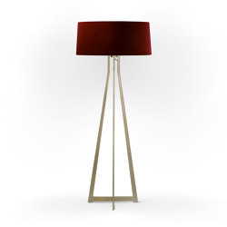 No. 47 Floor Lamp Velvet Collection - Cayenne - Brass | Free-standing lights | BALADA & CO.