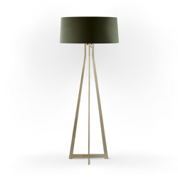 No. 47 Floor Lamp Velvet Collection - Mousse - Brass | Free-standing lights | BALADA & CO.