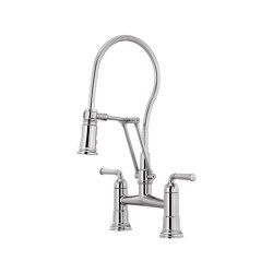 Articulating Bridge Faucet with Finished Hose | Kitchen taps | Brizo