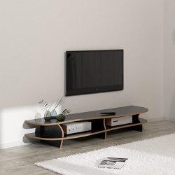 tv lowboard | Black Carpet | Multimedia sideboards | form.bar