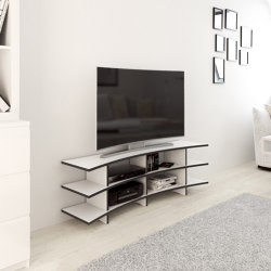 tv rack | Curved | Multimedia sideboards | form.bar