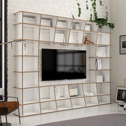 tv wall | Jinga | Scaffali | form.bar