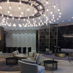 9 Appold St. chandelier | Suspended lights | Okholm Lighting