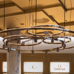Klarlund Axel Towers chandelier | Lampadari | Okholm Lighting
