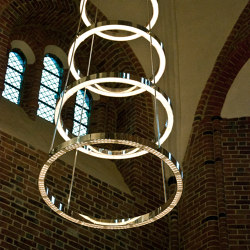 Løgumkloster church LED chandelier | Lampadari | Okholm Lighting