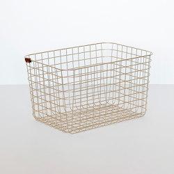 Wire Basket | L | gold | Storage boxes | Moheim