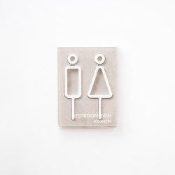 Restroom Sign | 2pcs | whtie | Symbols / Signs | Moheim
