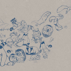 Jump Paper Blue   Quadri / Murales   TECNOGRAFICA